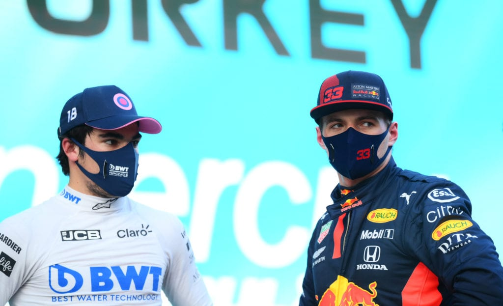 Max Verstappen and Lance Stroll